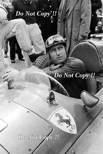Juan-Manuel Fangio Lancia Ferrari D50 F1 Portrait 1956 Photograph 1