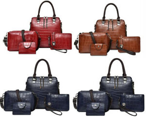 New Factory made tote bag luxury sac women shoulder with 4 pcs in one set