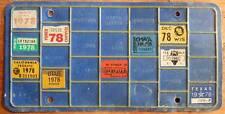 Old Photo. 1978 USA Interstate Truckers Bingo Board Prorate License Plate