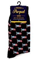American Flag Men's Socks Novelty Casual Fashion Crew Patriotic Black Footwear