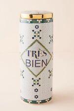 New Anthropologie Tres Bien Bistro Tile Lidded Ceramic Food Storage Canister Jar