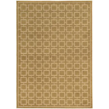 """5x7 Gold Blocks Squares Lines Grid Checked Area Rug Sphinx - Aprx 5' 3"""" x 7' 3"""""""