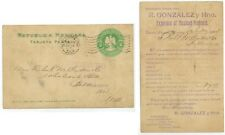 1904 Nuevo Laredo Mexico RM flag cancel on Gonzalez Mexican Products pc - cover