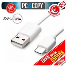 Cable micro USB tipo C 3.1 datos y carga moviles y tablets Android Blanco 1M A+