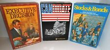 3-Boxed AH BOARD GAMES Executive Decision - Candidate - Stocks & Bonds op 78-92