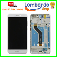 DISPLAY LCD TOUCH SCREEN FRAME VETRO PER HUAWEI P8 LITE 2017 BIANCO PRA-LA1