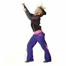 ZUMBA Fitness Dance Cargo Pants - Convert to Capris -  ELECTRO - L - NWT