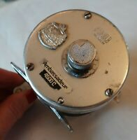 VINTAGE Abu AMBASSADEUR Silver 4500C Casting Fishing Reel PreOwned Some Wear