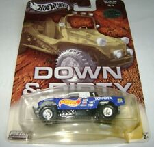 HOT WHEELS DOWN AND DIRTY BAJA RACER TOYOTA TRUCK BLUE & WHITE W/REAL RIDERS LE