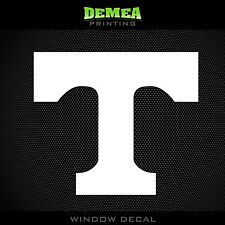 "Tennessee- Volunteers - T - NCAA - White Vinyl Sticker Decal 5"""