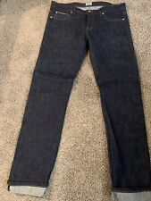 Naked And Famous Skinny Guy Deep Indigo Blue Stretch Selvedge Jeans 38