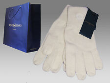 New HENRI LLOYD Mens Knitted Wool GLOVES Cambourne Wool Cream Large