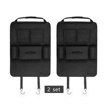 2 Pack Auto Organizer Rücksitz Auto Rücklehnenschutz Autositztasche Schutzmatte