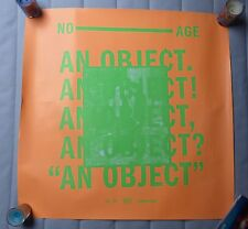 No Age An object LP Official Promo Poster Sub pop