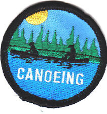 """CANOEING""- Iron On Embroidered Applique Patch-Water Sports, Canoe,Rowing"