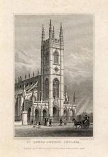 Antique Print-ST LUKES-LONDON-ENGLAND-Shepherd-1827