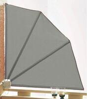 Sichtschutz Fächer 120x120cm Balkon  Trennwand Grau NEU & OVP