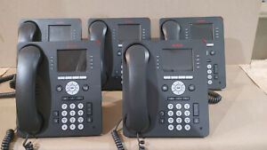 Lot of 5x Avaya 9611G IP Desk Phone w/ Stand & Gigabit Ethernet