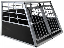 Doppel Hundetransportbox M Auto Gitterbox Hunde Katzen Alu Hundebox Kofferraum