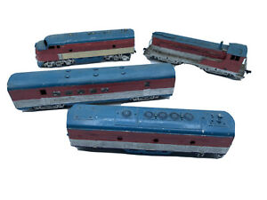 HO SCALE FLEISCHMANN #1340 LOCOMOTIVE & 3 Cars Untested Parts Only Athearn