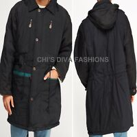 """MEN'S PADDED HOODED LONG JACKET SIZES XL=CHEST 51"""", 2XL=CHEST 55"""" APPROX"""