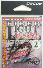 FIBER LIGHT ASSSIT DJ-92 SIZE 2 DECOY HOOKS ARTIFICIALI VERTICAL JIG AMI