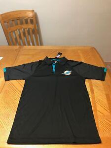 Miami Dolphins NFL Polo Shirt Dri-Fit Hyperwarm T-shirt Cameron Wake Jersey M