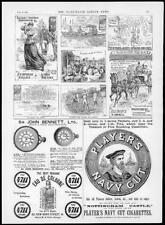 1894 Antique Print  Advertising - Players Navy Cut Cigarettes John Bennett  (58)