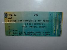 Foo Fighters 2002 Concert Ticket Stub Manchester m.e.n. Arena U.K. rare Nirvana