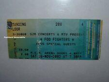 Foo Fighters 2002 Concert Ticket Stub Manchester M.E.N. Arena U.K.Rare Nirvana