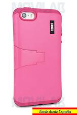 Funda Apple Iphone 5 - 5S / SE protectora/ bumper con soporte rosa fucsia