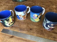 Set Of Four Disney Cups 2x Made In Japan And 2x In England