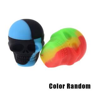 Mini Size 3ml Skull Style Silicone Wax Concentrate Oil Container Jar Nonstick