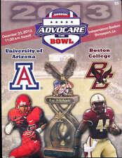 2013 Advocare Independence Bowl Program Arizona vs Boston College