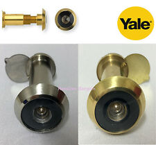 Yale Door Viewer Wide Angle Adjustable 8V001 Chrome or Brass Finish