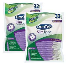 DenTek - Slim Brush Interdental Cleaners - 32PK - Pack of 2 - Free P&P