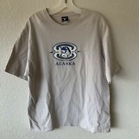 Vintage Hanes Beefy T Shirt Spirit Of Wolf Alaska Mens Large
