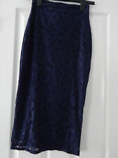 Pippa Dee Navy Lace Skirt Size 8