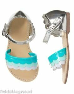 NWT Gymboree tide Pool Scallop Sandals Shoes Toddler Girls 5 6 7 8 9 10