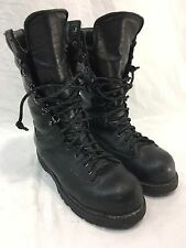 VTG MATTERHORN Mens 6 GORE TEX STEEL TOE BLACK LEATHER Work Boots USA MADE LACE