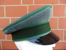 Schützenmütze, Uniformmütze, grün Trikot mit grünen Biesen, Größe 58