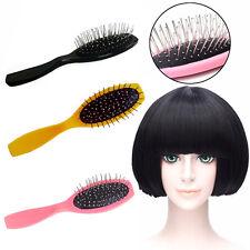 Metal Detangle Healthy Paddle Cushion Hairbrush Hair Loss Massage Scalp Comb#