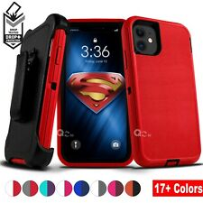 For iPhone 11 11 Pro Max Defender Shockproof Rugged Case Cover With Belt Clip