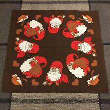 NEW Vintage Swedish Christmas Tablecloth Table Cloth Big Santas Sack Porridge