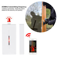433MHz Magnetic Door Windows Wireless Sensor Detector Alarm Switch Home Security