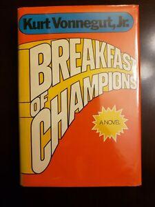BREAKFAST OF CHAMPIONS by Kurt Vonnegut -1973 , 1st Ed, 1st Print, HCDJ