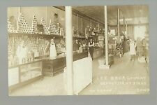 Waukon IOWA RP c1910 INTERIOR GENERAL STORE Lee Bros. GROCERY DIVISION #2