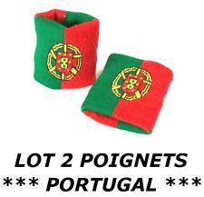 2 BRACELETS DRAPEAU PORTUGAL serre poignet éponge sport football jogging tennis