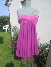 BEBE Designer PINK/Purple DRESS short /Mini Party/Clubbing Size S UK 8-10 SILK
