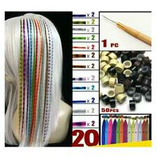 Feather Hair Extension Kit With 20 Synthetic Feathers,50 Beads&Hook BIN J9K1